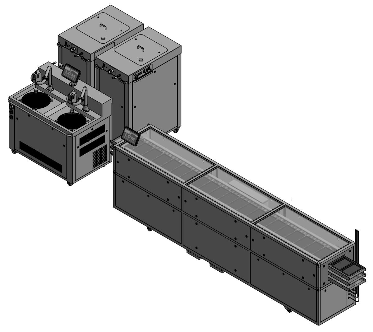 LCM Temperieranlage Bandkühler BKS 400 + 50 AT Twin mit Dosierung